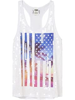 3ab12be592cca Victoria's Secret PINK Twist Back Tank at Amazon Women's Clothing store: