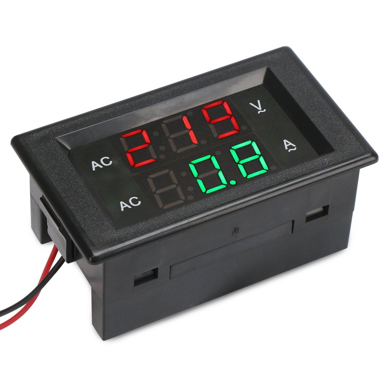 Drok Lcd Digital Multimeter Voltmeter Ammeter Ac 80 300v Voltage Wiring Current Meter Gauge 100a Volt