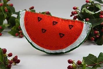 Juguete de fieltro hecho a mano peluche original regalo para nino Melon de agua