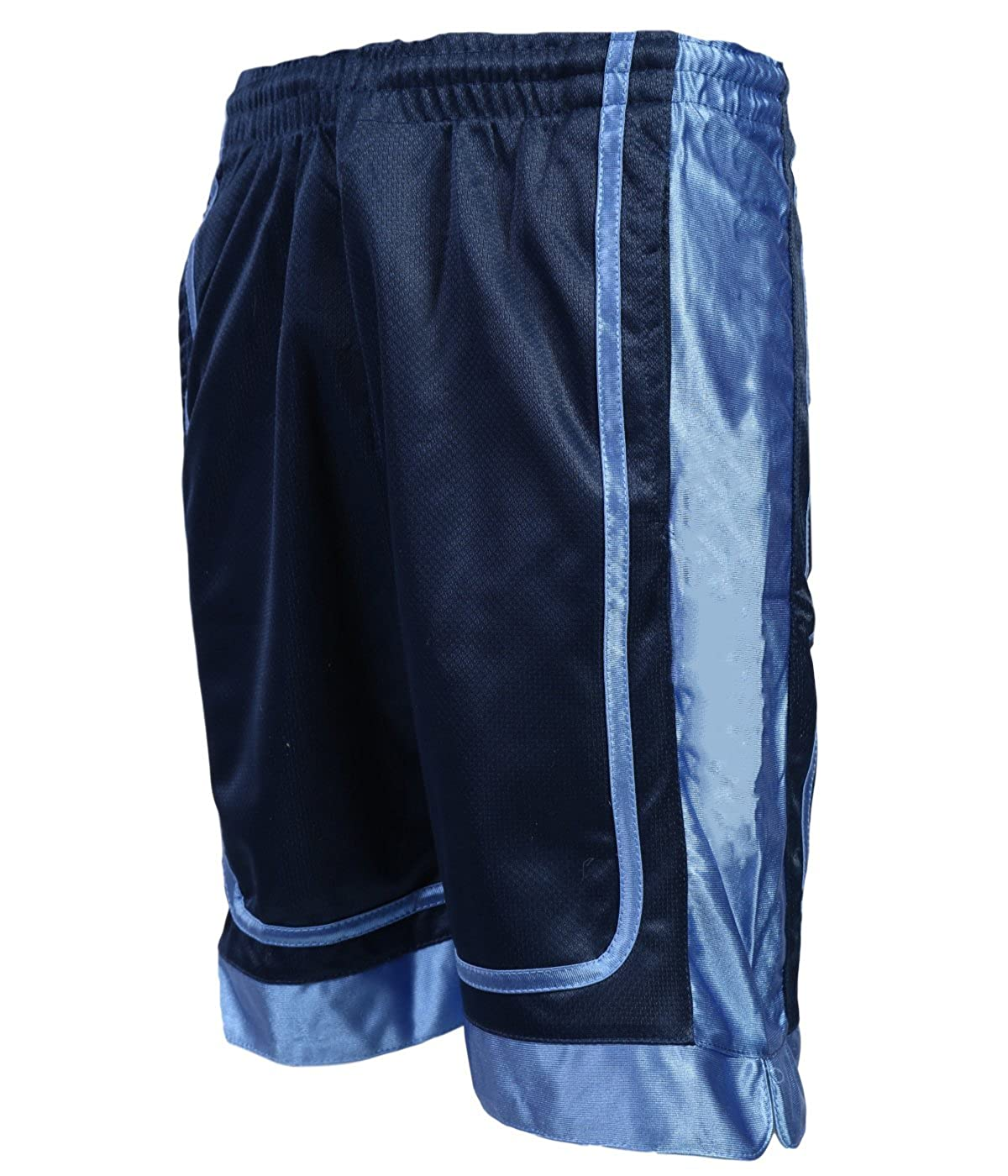 Galaxy by Harvic Boys Two-Tone Active Mesh Basketball Short Navy/Blue Small 8'