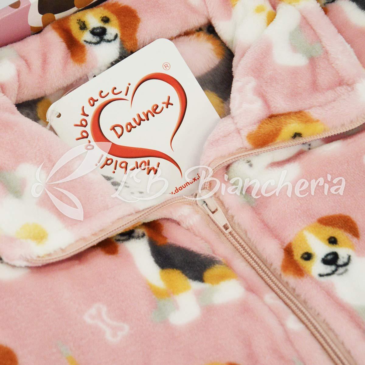 R.P TG Vestaglia Felpa Giacchetta Bimbo in Morbida ciniglia Morbidotto Dalmata Baby 12-14 Anni Rosa Daunex