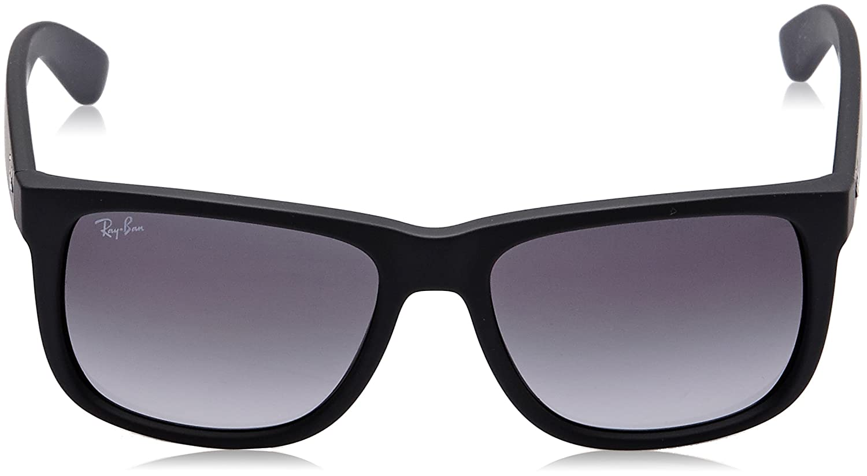 c988b4e8b3bfb Amazon.com  Ray-Ban Justin RB4165 Sunglasses-601 8G Rubber Black Gray  Gradient-51mm  Ray-Ban  Clothing