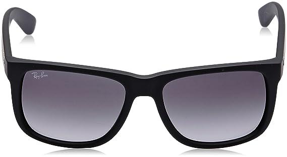568b2c969 Amazon.com: Ray-Ban Justin RB4165 Sunglasses-601/8G Rubber Black/Gray  Gradient-51mm: Ray-Ban: Clothing