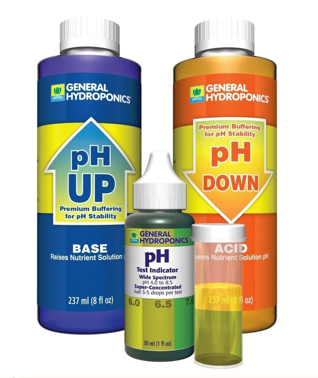 1-Set Immaculate Popular GH pH Control Hydroponics Tool Accurate General Water Test Kit Up and Down Volume 8 oz with 1 oz Indicator