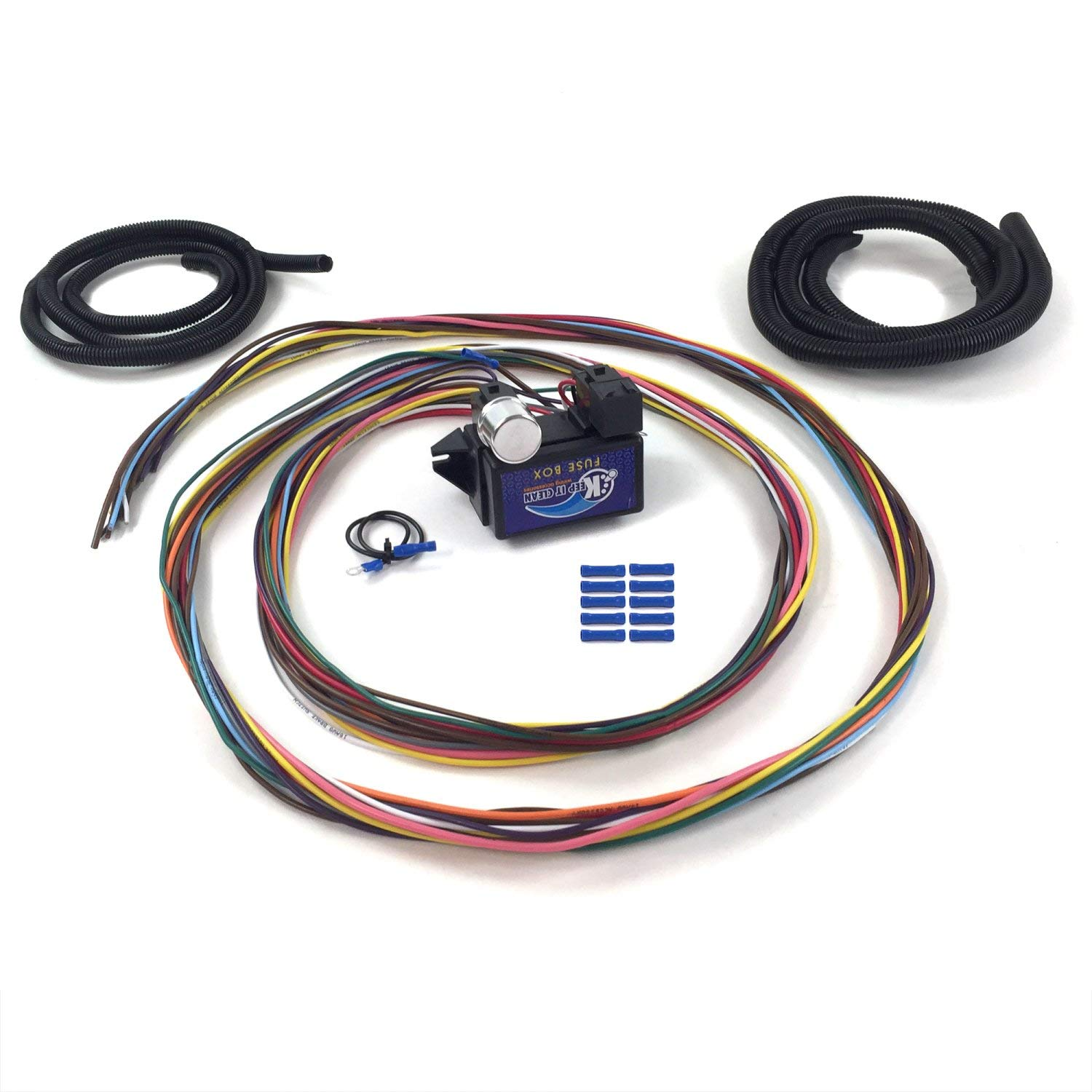 keep it clean wiring accessories kica331ac ultimate 12 fuse '12v  conversion' wire harness 39 1939 ford convertible truck