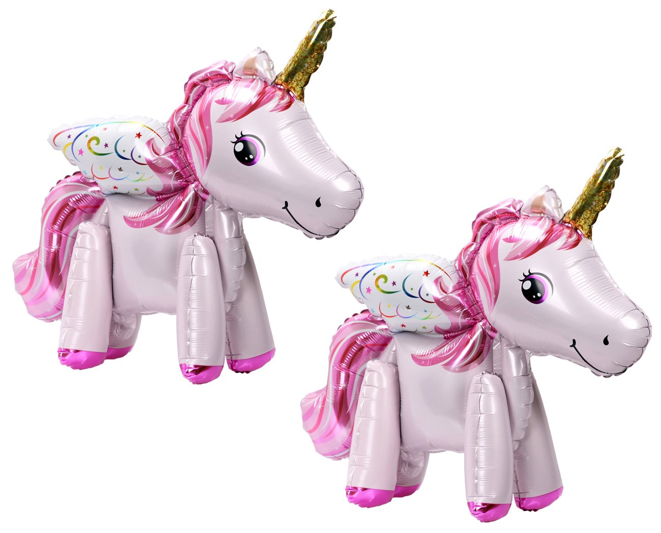 Langxun Marca Pink Unicorn Balloon, 2 Pcs Unicorn Party Supplies for Girls Birthday Decorations