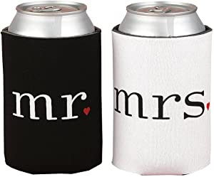 Tytroy Mr. and Mrs. Can Cooler Foam Holder Wedding Gift Set Party Accesories