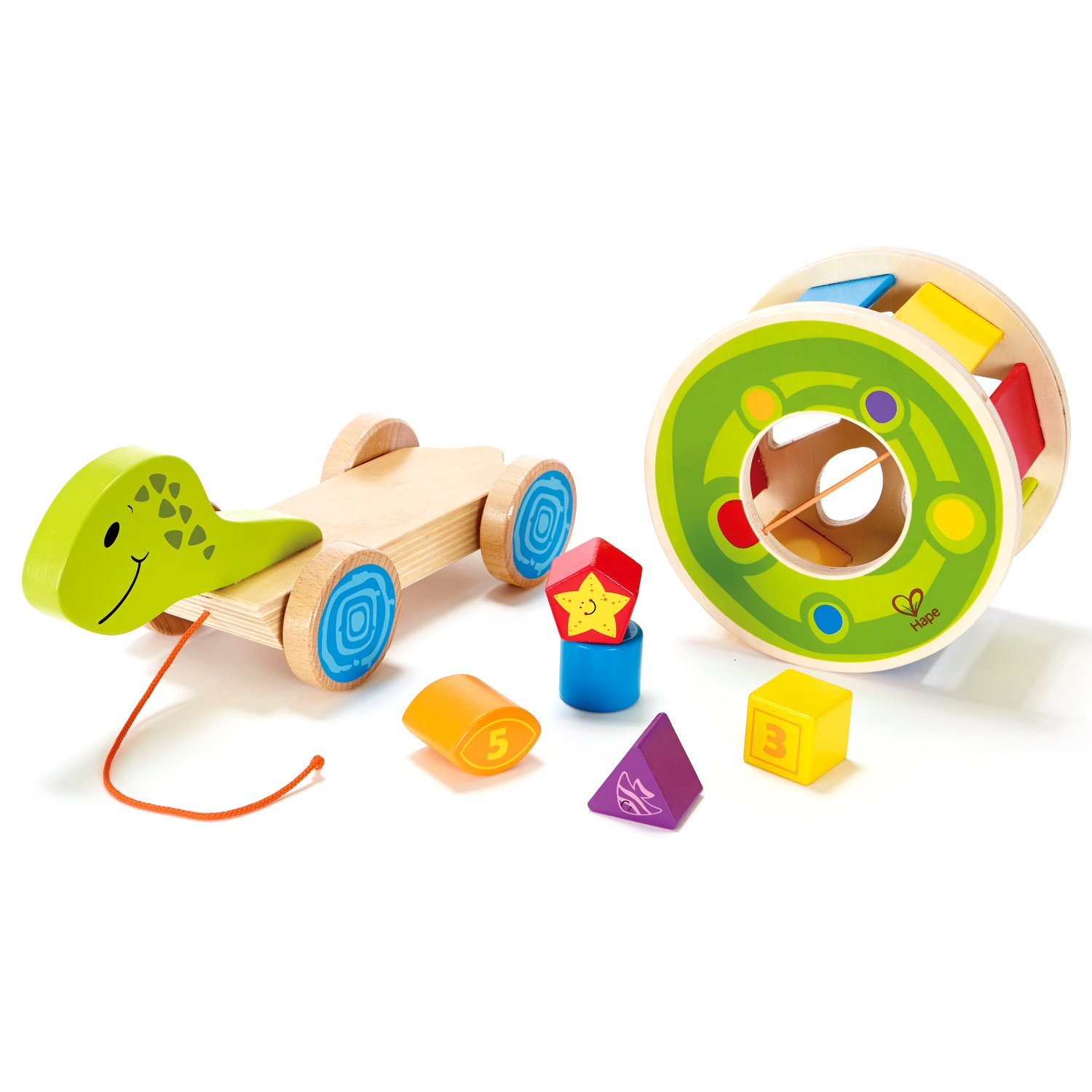 Amazon Hape Shape Sorter Wooden Pull Turtle Toy Toys & Games
