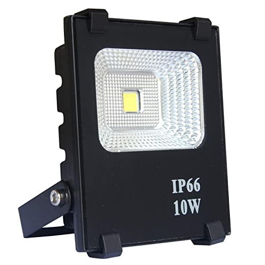 AUFUN Focos de exterior 10W LED reflector faro Blanco cálido ...