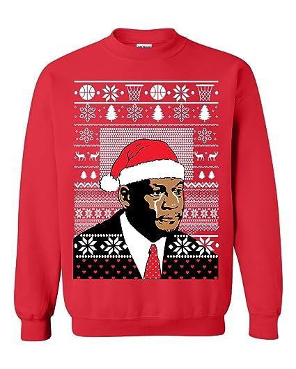 Unisex Jordan Crying Meme Ugly Christmas Sweater Funny Sweatshirt At