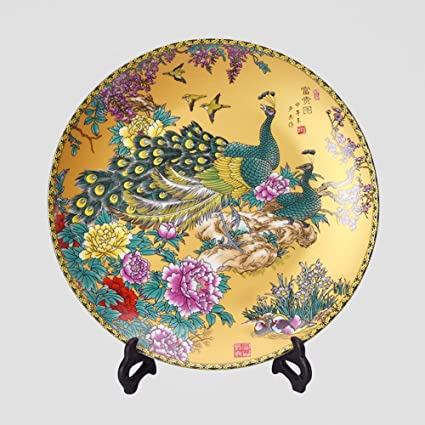 Chinese home accessories decorative plate crafts handmade ceramic desktop ornaments Small 20cm  sc 1 st  Amazon.com & Amazon.com: Chinese home accessories decorative plate crafts ...
