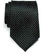 Retreez Check Textured Woven Microfiber Men's Tie - Various Colors