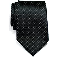 Retreez Check Textured Woven Microfiber Men's Tie - Various Colors
