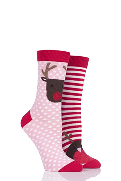 totes Ladies 2 Pair Pack Cracker Socks