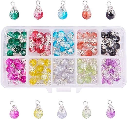 Glass Beads Jewelry 5pc set Shape Crystal Charm Beads