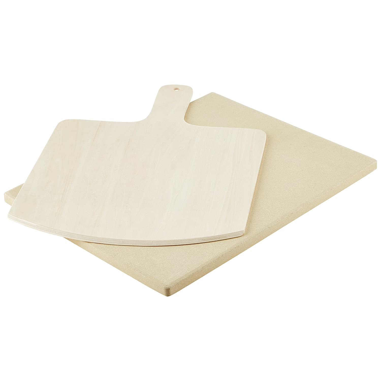 Levivo Pizza Stone / Bread Baking Stone made from heat-resistant cordierite, 30 x 38 x 1.5 cm 331800000103