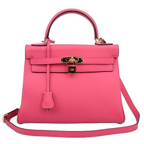 ab37972c63eb Ainifeel Women's Padlock 32CM 28CM 25 CM Shoulder Handbags Purses Hobo Bag  (25 cm,