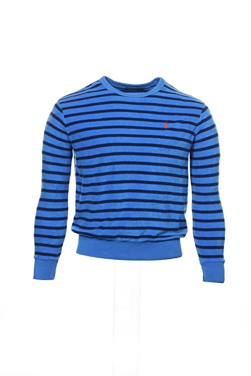 c74a748e629f0 Polo Ralph Lauren Men s Striped Cotton Terry Pullover