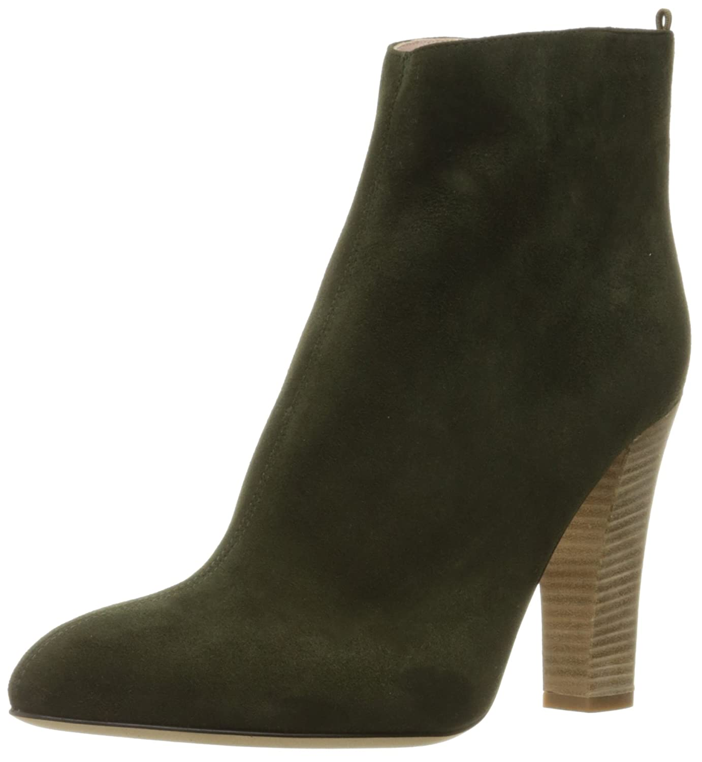 Olive Suede SJP by Sarah Jessica Parker Women's Minnie Ankle Bootie