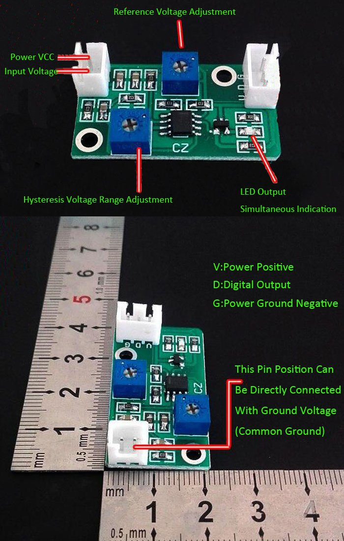 icstation Mini LM393 voltaje comparador de módulo de ...