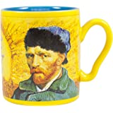 Van Gogh Disappearing Coffee Mug - Add Hot Water and Watch Van Gogh's Ear Disappear - Comes in a Fun Gift Box