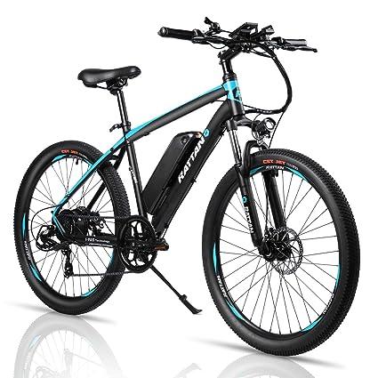 Amazon.com: Rattan - Bicicleta eléctrica de montaña de 26 ...