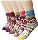 Calze di lana, Yokamira donne calzini cotone termici versione aggiornata invernali caldo termiche morbido annata per l'inverno