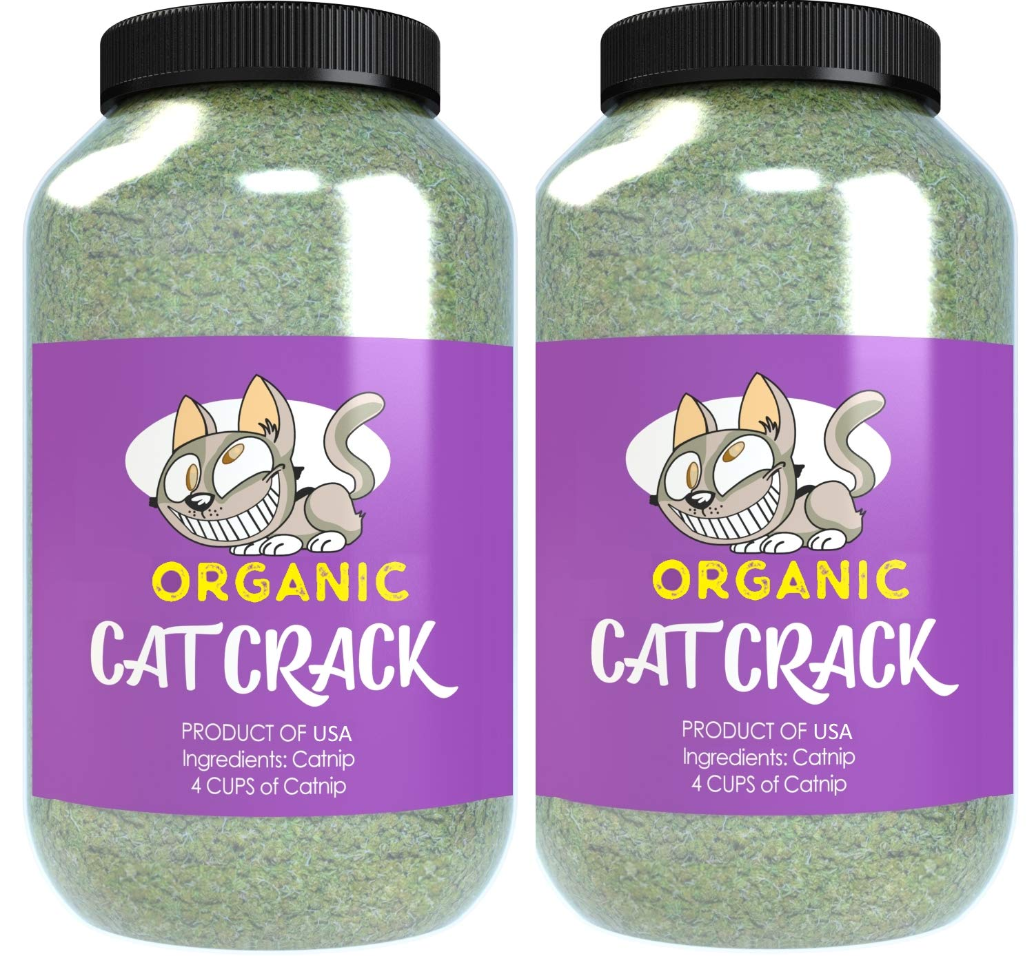 Cat Crack Organic Catnip, Premium Blend Safe for Cats, Infused with Maximum Potency Your Kitty is Sure to Go Crazy for (8 Cups) by Cat Crack