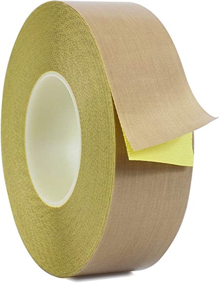 3 mil w// Silicone Adhesive Teflon 3//4 inch x 36 yards Coated Fiberglass Cloth Tape PTFE