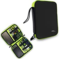 Gizga Essentials Gadget Organizer Case, Portable Zippered Pouch for All Small Gadgets, HDD, Power Bank, USB Cables etc (Black)