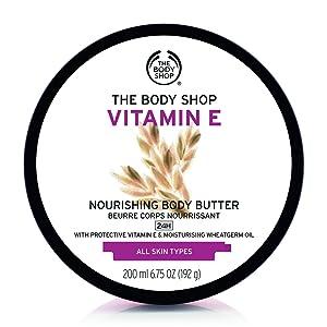 The Body Shop Vitamin E Body Butter, Nourishing Body Moisturizer, 6.75 Ounce (Pack of 1)