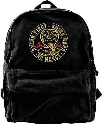 Mochila de lona Cobra Kai Karate Dojo Mochila para gimnasio, senderismo, portátil, bolsa de hombro para hombres y mujeres