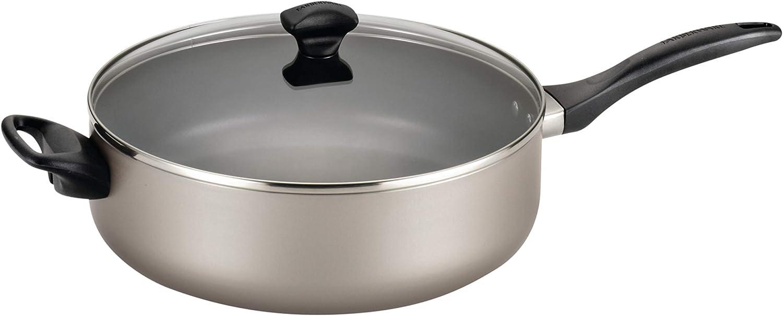 Farberware 21909 Dishwasher Safe Nonstick Jumbo Cooker/Saute Pan with Helper Handle - 6 Quart, Silver
