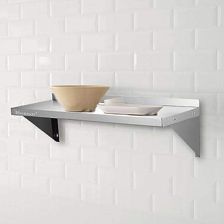 Voilamart 900mmx300mm Stainless Steel Wall Shelf Wall Mounted