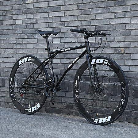 LRHD Bicicletas carretera, de 24 velocidades de 26 pulgadas, bicicletas de doble disco de freno, marco de acero al carbono de alta, camino de la bicicleta de carreras, Bicicletas Hombres y mujeres