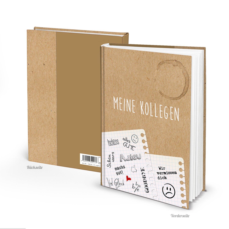 Vintage Kollegenbuch MEINE KOLLEGEN DIN A4 Blankobuch HARDCOVER Buch ...