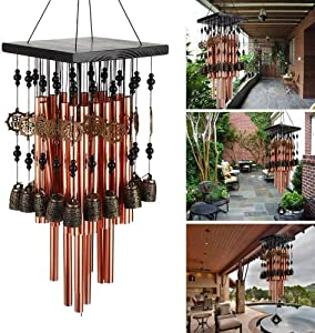 YLYYCC Brass Tube Wind Chimes Copper Bell Decoration Wind Chime Gift (28# Wind Chime)