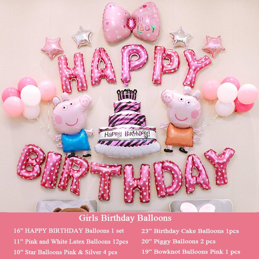 Amazon Girls Birthday Party Decorations Pink Happy Birthday