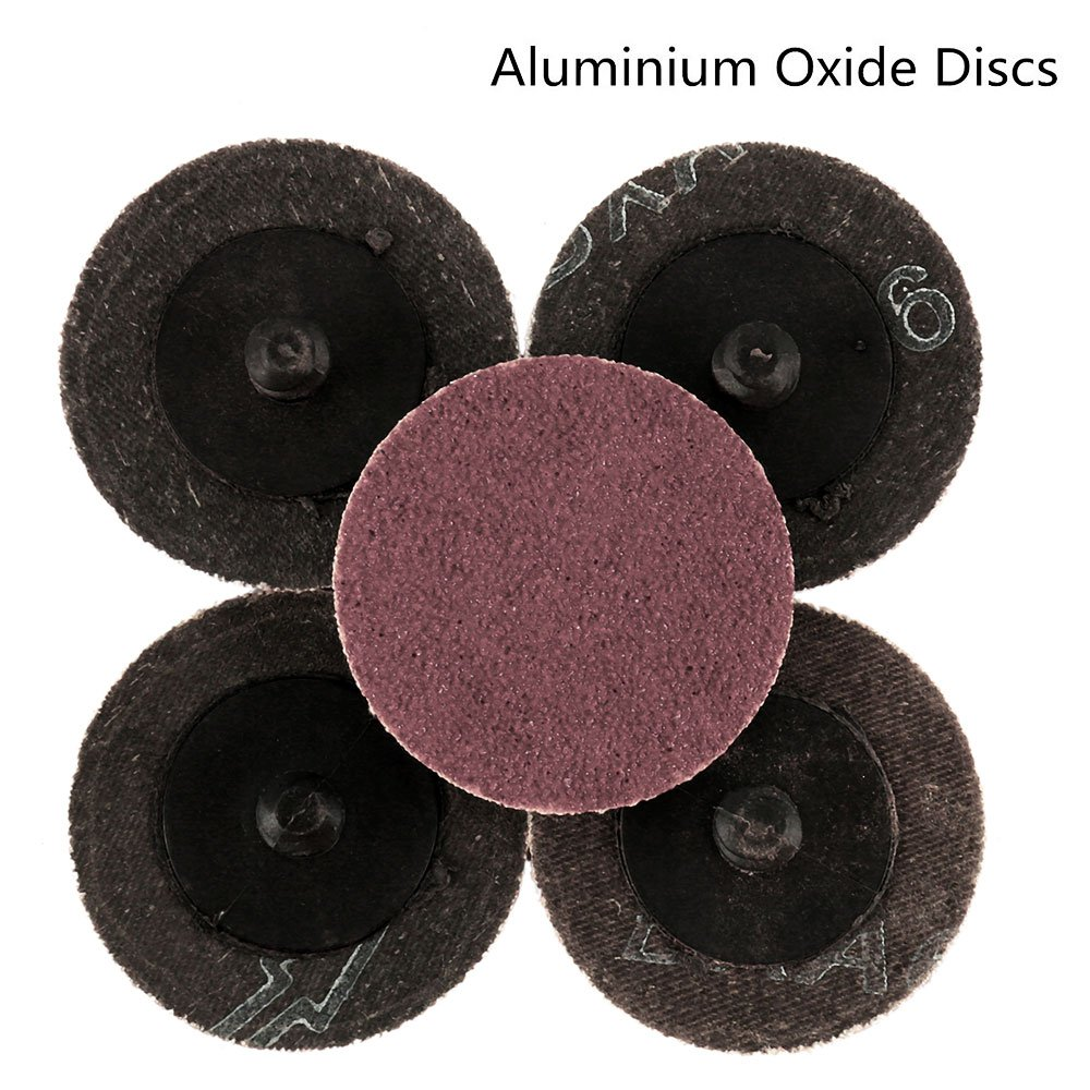 35Pcs Sanding Discs 2 inch Quick Change Discs,Surface Conditioning Discs, with 1/4 inch Tray Holder, for Surface Prep Strip Grind Polish Finish Burr Rust Paint Removal, by Wrightus by Wrightus (Image #5)