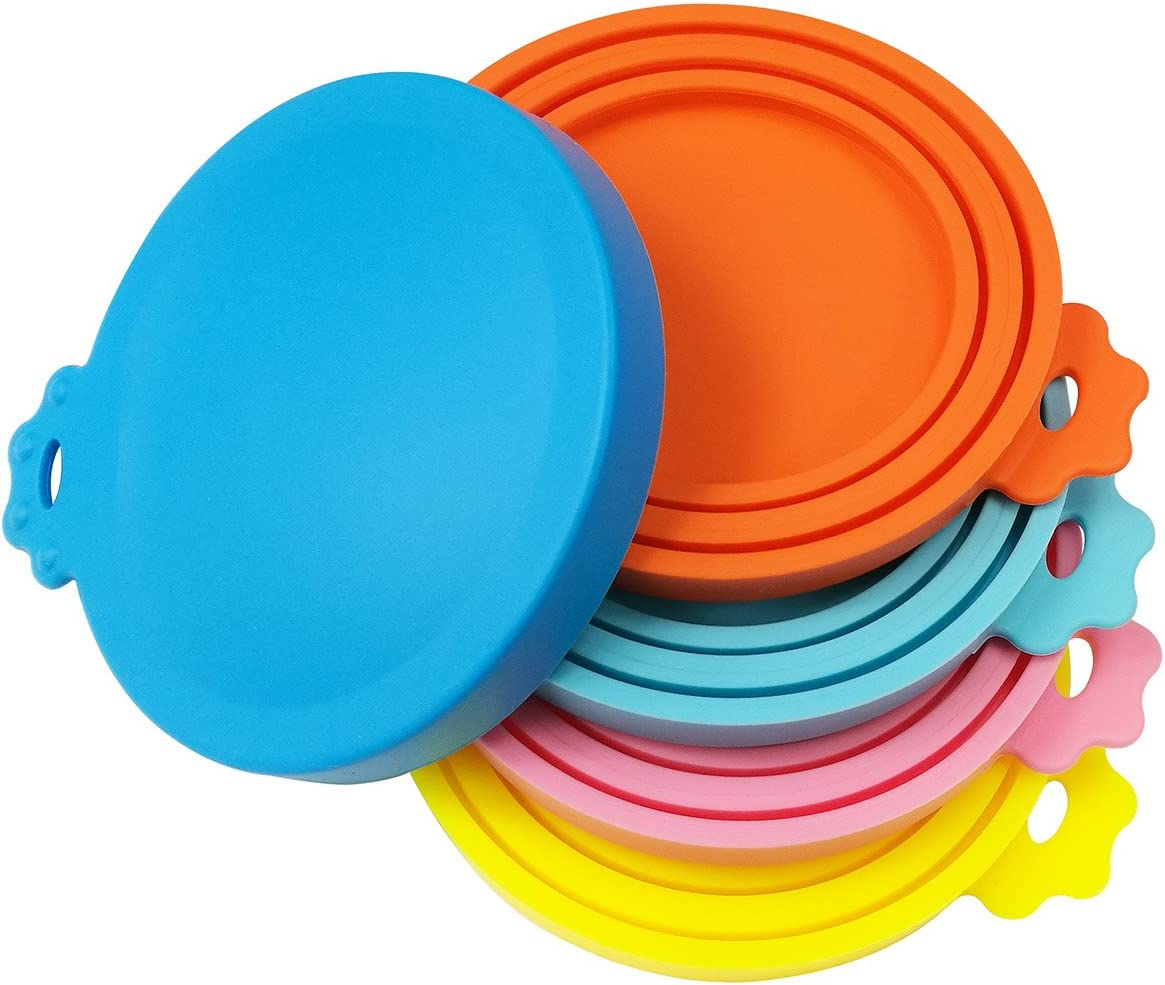 SACRONS Can Covers Universal Silicone Can Lids for Pet Food Cans Fits Most Standard Size Dog and Cat Can Tops BPA Free