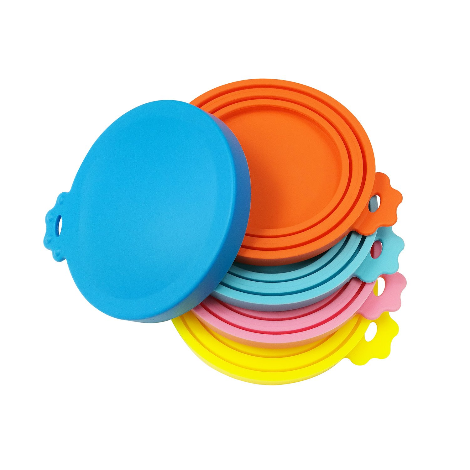 SACRONS Can Covers/5 Pack/Universal Silicone Can Lids for Pet Food Cans/Fits Most Standard Size Dog and Cat Can Tops/100% FDA Certified Food Grade Silicone & BPA Free
