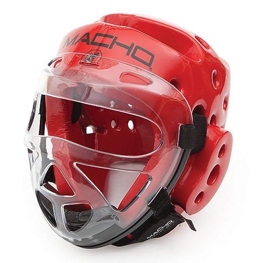 Macho Dyna Head black medium and Clear Face shield