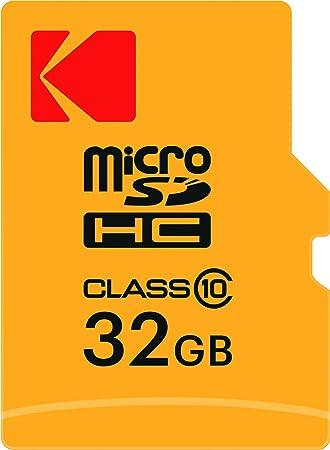 Kodak 32 GB microSDHC Tarjeta de Memoria con Adaptador SD ...