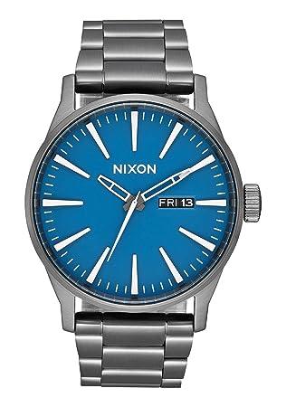 Nixon Reloj Analógico para Hombre de Cuarzo con Correa en Acero Inoxidable A356-2854-00: Nixon: Amazon.es: Relojes