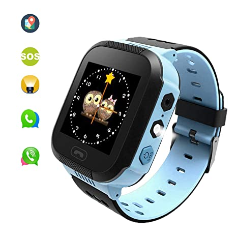 Kids Smart Watches can Make Calls and Send Voice, SOS Alarms and LBS Positioning Functions. This is The Best Gift for The Children. (Blue)