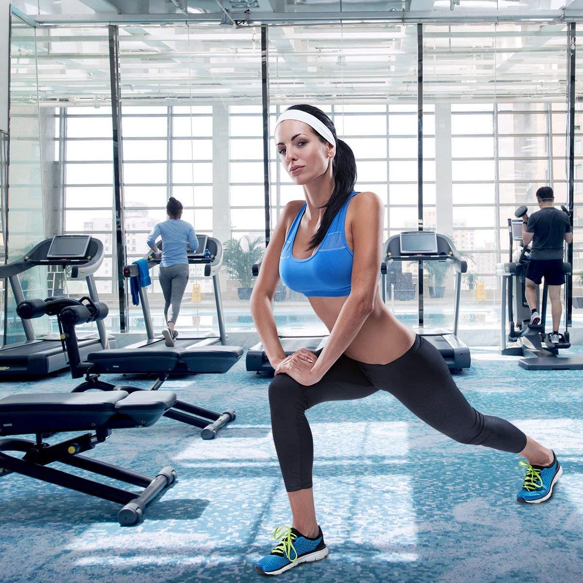Bujingyun Bandeaux /élastiques de Yoga Sport pour Femmes Ados filles-12 Couleurs m/élang/ées /