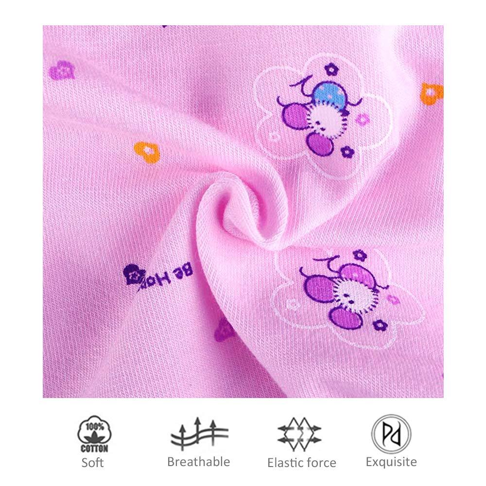 Mutande Comode Carina della Slip per Boxer della Stampa del Cotone da 5 Pezzi Taglia 3-9 Anni BOZEVON Culotte Bambina