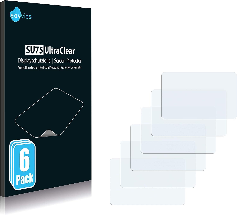 Displayschutz-Folie Ultra-transparent Savvies 6X Schutzfolie kompatibel mit Tomtom GO Essential 6