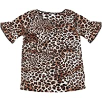 Bebé Niño Bebé Niñas Leopardo Suéter Camisa Manga Larga Cheetah Cardigan Pullover Top Otoño Invierno Ropa