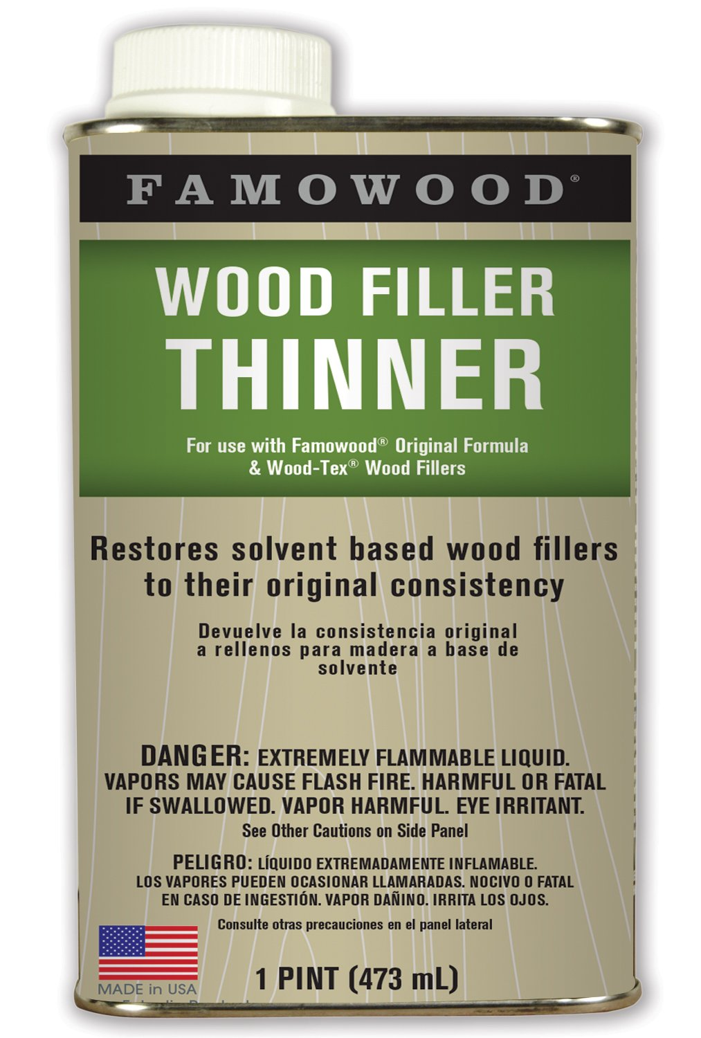 Famowood 730021 Wood Filler Thinner - Pint